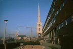 St Andrews spire with Technical College; view from south; January 1970 (J0811021E95)