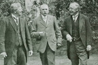 Elgar (centre) with friends at Gloucester; 1922; dd/mm tbc (J0901121E43)