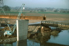 Building Worcester's second bridge. January 1984 (Carrington Bridge) (J0902121E53)
