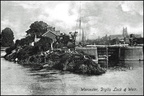 Diglis Lock and Weir (old post card); 1906 (J1207301E19.jpg)