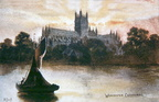 Worcester Cathedral (old post card); c.1910 (J1208011E12.jpg)