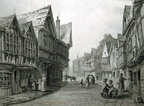 Friar Street, Worcester – Greyfriars on the left; date tbc (J1302241E07.jpg)