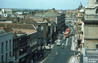 The Cross and Foregate Street- view to North from St Swithins Street junction; 4th August 1977 (J1304041E09.jpg)