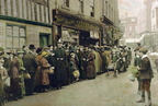 James' Meat, Potato and Fruit Shop in Pump Street [queues 1914-18 ??] (J1304271E14.jpg)