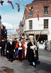 Three Choirs Festival Civic Procession in High Street/Lich Street; September 1960; ALJ-0054